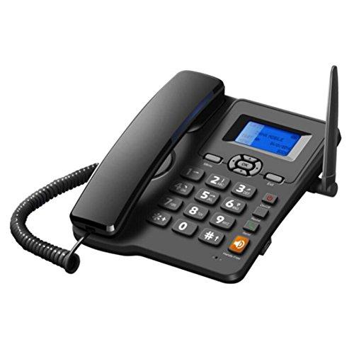 STRIR Wireless Quadband GSM - Wireless Teléfono fijo analógico, negro