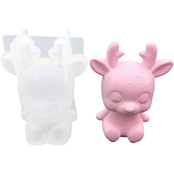 wiFndTu 3D Bear Resin Mold Silicone Resin Mould Flower Fondant Candle Cake Mold DIY Craft Jewelry Making Mold Jewelry Casting Mold