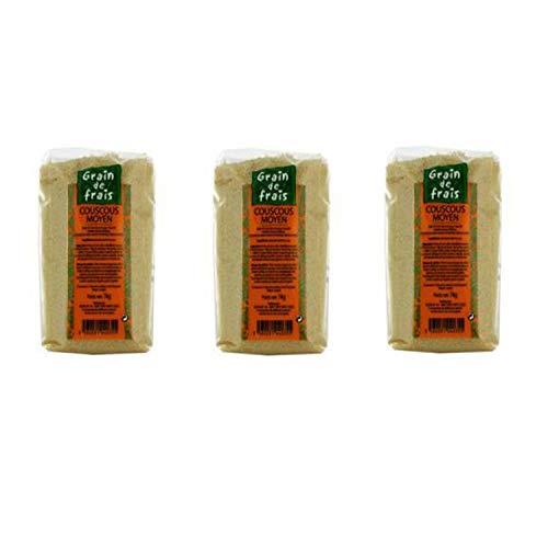 Lot 3x Couscous moyen - Grain de Frais - paquet 1kg