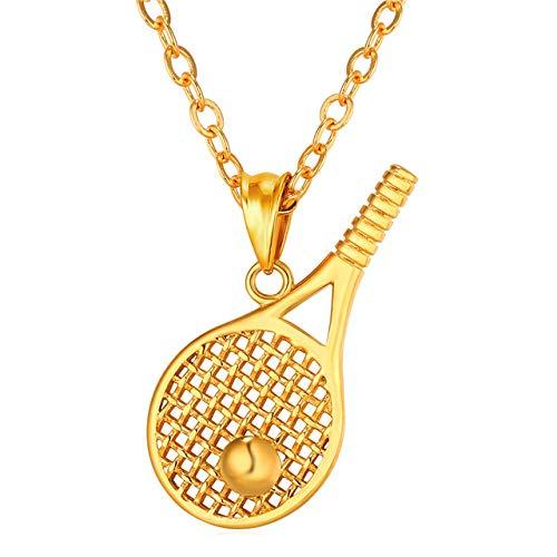Sport Palestre Collane e ciondoli Color oro Acciaio inossidabile Pallina da tennis Fitness Collana Donna Uomo Gioielli