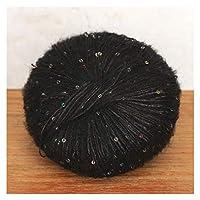 SHT 50グラム/ボールスパンコールモヘア糸ソフト編糸カラフルな細いかぎ針編み糸 (Color : 08)