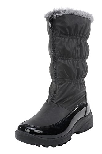 totes Women's Sled Snow Boot (8 B(M) US, Black)