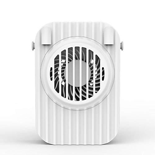xiaowang Ventilador de cuello portátil con cordón, ventilador de escritorio USB de mano, ventilador doble de refrigeración personal con tres velocidades de viento ajustables