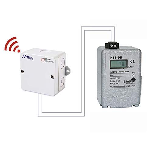 ZÄHLER plattform Funk Ölzähler HZ 5-DR mit LCD Digitalanzeige und Impulsausgang + wM-Bus Impulsadapter Padpuls M2W
