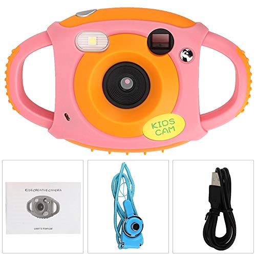 Zerodis Cartoon Kamera, Amkov CD-FP + Mini Digital Nette Kinder Kamera Video Spielzeug HD 1,8 Zoll Bildschirm Selbstauslöser Kamera für über 3 Jahre alt(Rosa)