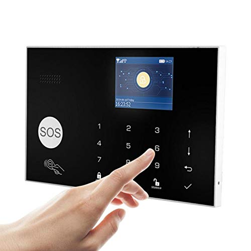 Pwshymi APLICACIÓN Monitoreo Remoto Alarma Inteligente Alarma antirrobo Batería de Respaldo Sensor infrarrojo(European regulations)