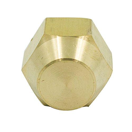 Vis Brass CA360 Flared Tube Fitting, SAE 45 Degree Flare, Cap, 5/8