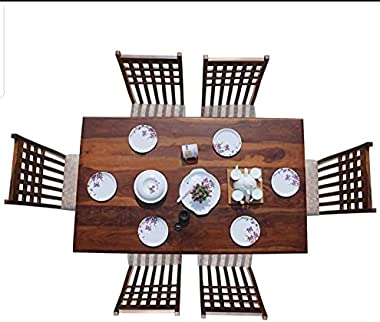 Home Decor SHEESHAM Wood Dining Set Furniture for Home, Pure SHEESHAM Wood (Rosewood) Product, Solid SHEESHAM Wooden Product