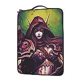 World Warcraft - Bolsa de hombro para ordenador portátil, cómoda y a prueba de golpes, gran capacidad de 13 14 15,6 pulgadas