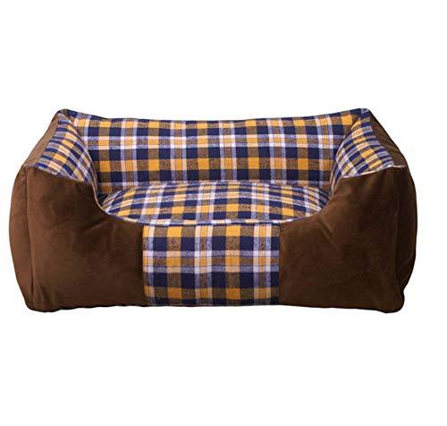 Kennelwarm Pet Sleep Sofa Kussen Afneembaar en wasbaar Wasbaar puppyhuis Groot hondenhok 63X43X18Cm