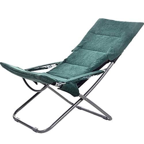N/Z Home Equipment Sillón reclinable pequeño Plegable Lunch Break Oficina Siesta Silla Balcón Ocio Silla Perezosa Silla de Playa (Color: 2Pcs Green)