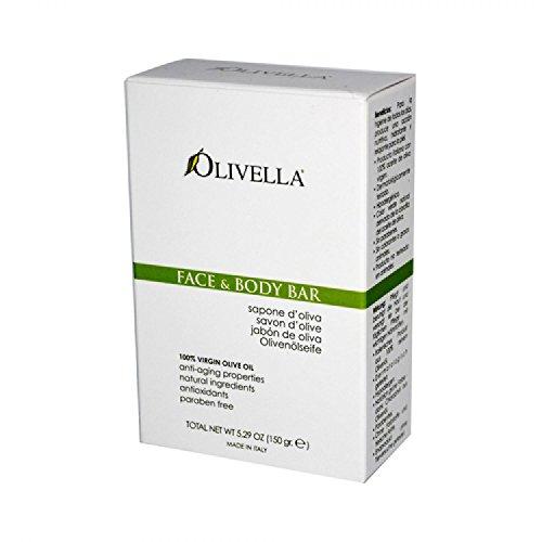 Olivella - Visage d'huile d'olive de Vierge et savon de barre de corps - 5.29 oz.