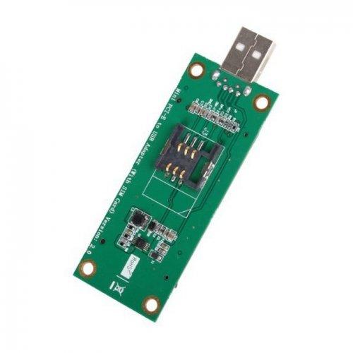 Mini PCI-E Wireless WWAN a USB Scheda Adattatore con Scheda SIM Slot Modulo Strumenti di Test CableCC
