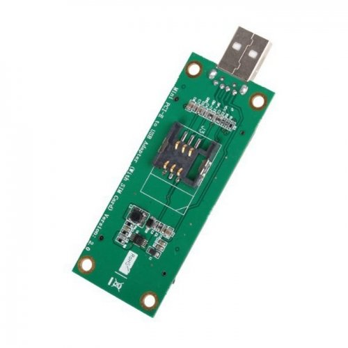 Mini PCI-E Wireless WWAN auf USB Adapter Karte mit SIM Card Slot Modul Testen Tools cablecc