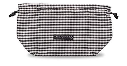 正和(Showa) ランチ巾着 保冷 巾着 ギンガムチェック ブラック ポリエステル L/B 77092