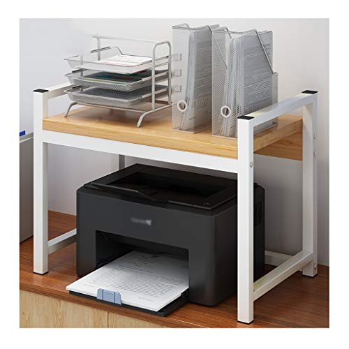 zlw-shop Printer Stand Household Creative Printer Shelf Surface Double Storage Rack Multifunction Modern Minimalist Multi-layer Rack Copy Rack for Office Desktop Stand for Printer (Color : A)