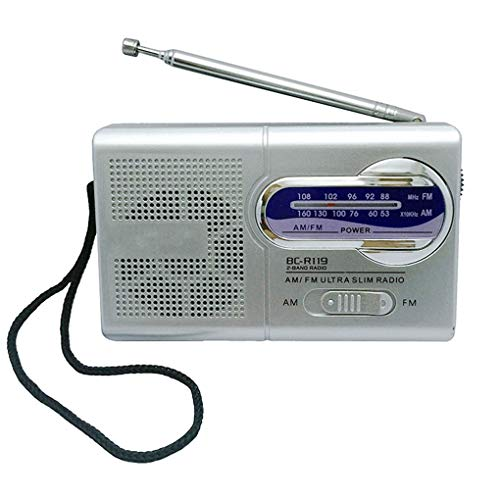 Deinbe BC-R119 AM FM Tragbares Radio 2-Band Wireless Receiver Music Player einziehbare Antenne DC 3V