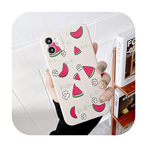 Funda de teléfono TPU de gel de sílice para Huawei Honor 20 9x 8x P40 P30 P20 Pro Nova 8 7 SE Mate 40 30 Pro Cartoon Fruits Back Cover-1-Para Huawei Nova 8Pro
