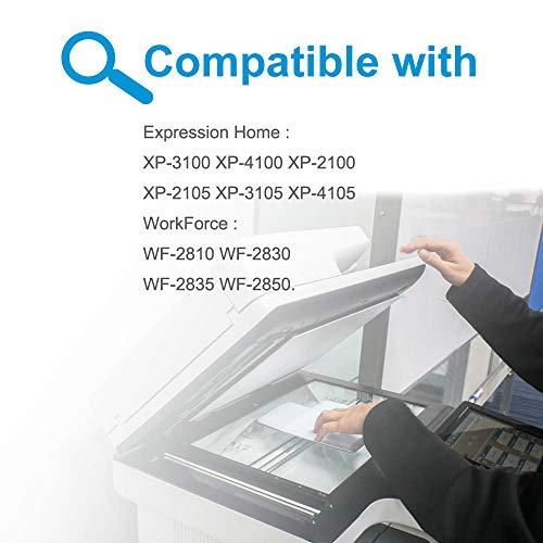 Teland - Cartucho de tinta compatible con Epson 603 603XL con Epson Workforce WF-2810 WF-2850 WF-2830 WF-2835 Expression Home XP-2100 XP-3100 XP-4105 XP-2105 XP-4100 XP-3105 (2BK/C/M/Y)