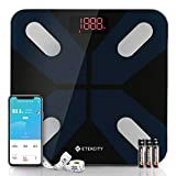 Etekcity Smart Digital Bathroom Scale SScales for Body Weight and Fat, Wellness Bluetooth Health Monitor with SmartApps, Wide Platform, 13 Data, 11.8 x 11.8 Inches, Black