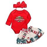Baby Girls My First Christmas Outfit Vestido de Falda de tutú de Mameluco de Manga Larga Conjunto...