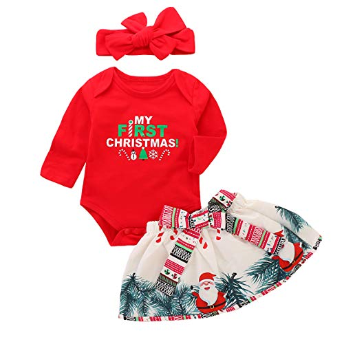 Baby Girls My First Christmas Outfit Vestido de Falda de tut