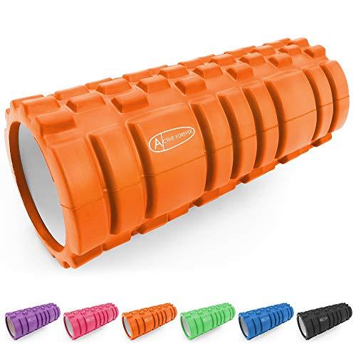ActiveForever Faszienrolle Massagerolle Fitnessrollen Schaumstoffrolle Fitness Sport Sechs Farben Sind Erhältlich(Orange)