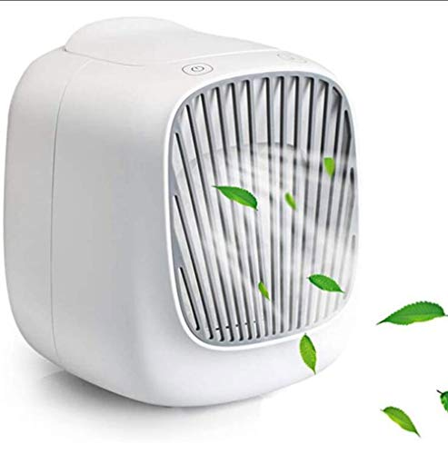 Witte Mini Mobiele Airconditioner, Luchtkoeler Ventilator/Luchtbevochtiger For Thuis En Op Kantoor Mute (3-speed Fan)