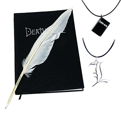Death Notebook Anime Cosplay pluma L collar libro cadena conjunto anime accesorios 4 piezas negro