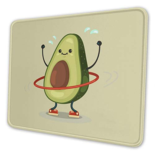 Gaming Mouse Pad - Cartoon Avocado Rectangle Rubber Mousepad - 8.3 X 10.3 in X 0.12''(3mm Thick) Mouse Mat for Gift Support Wired Wireless Or Bluetooth Mouse