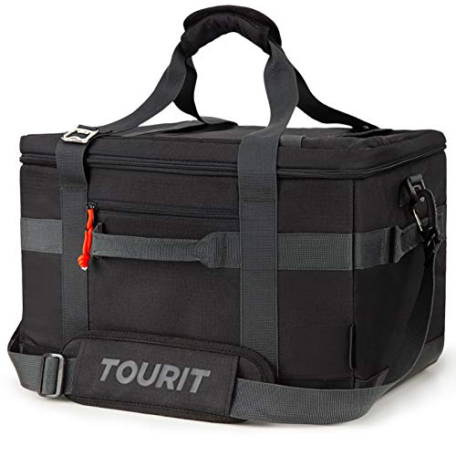 TOURIT Cooler Bag 48-Can Insulated Soft Cooler Large Collapsible Cooler Bag 32L Lunch Coolers for Picnic, Beach, Work, Trip, Camping,Black
