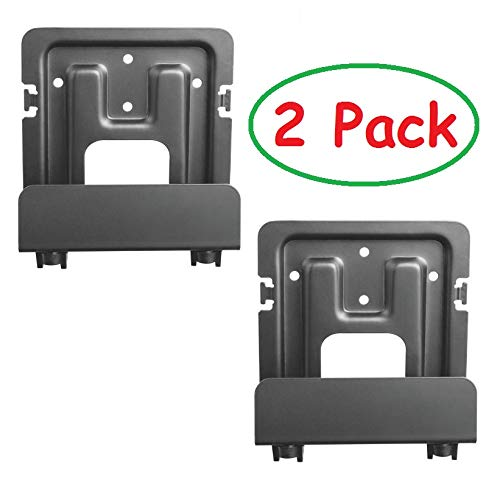 Mount Plus MP-APM-06-01 2 Pack Streaming Media Player Wall Mounting Bracket for Most Small Devices Up to 11 lbs. - Apple TV, Roku, Fire TV, PS4 Slim (2 Pack Narrow) Ceiling Mounts TV Wall