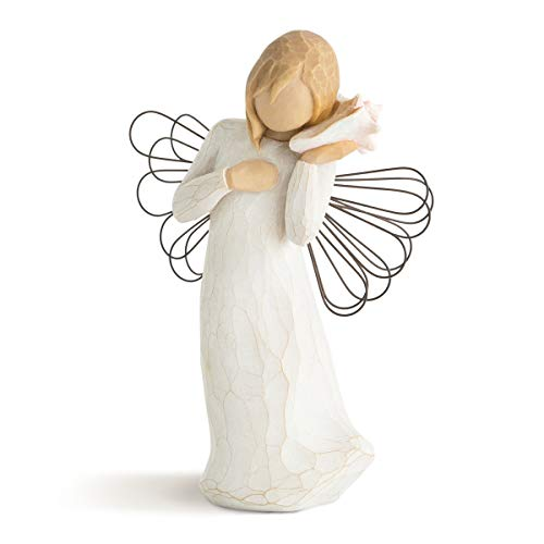 Willow Tree Thinking of You Angel, Sculpted Hand-Painted Figure