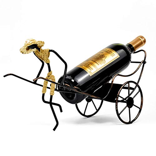 Arredo bar Regali stile cinese!Nostalgic Retro Style vino del metallo Rack, carino ed elegante 'Beijing Hutong Culture' Design, for ristoranti, bar, quotidiano Home Furnishings Etc ( Color : Brass )