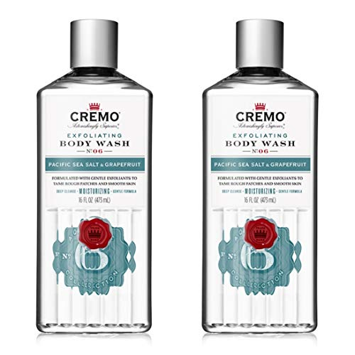 Cremo Exfoliating Pacific Sea Salt & Grapefruit Body Wash, A...