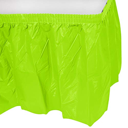 Party Favors Plus 3 Mint Green Plastic Table Skirts 29 in X 13 Ft Stretches to 19ft