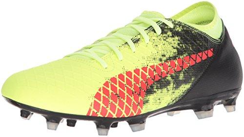 PUMA Men's Future 18.4 FG/AG Soccer Shoe, deep Lagoon White-Green Gecko, 10 M US