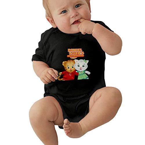 Daniel Tiger's Neighborhood Unisex Baby's Short Sleeve Newborn Clothes Bodysuit Romper Jumpsuit 0-2T Black