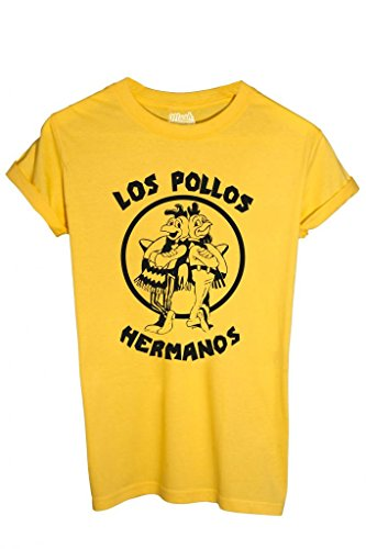 MUSH T-Shirt Los Pollos Hermanos Breaking Bad-Serie TV by Dress Your Style - Uomo-S-Gialla