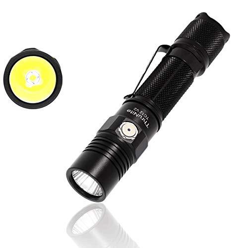 ThruNite TC12 LED Taschenlampe USB Wiederauflabar Super Hell 1100 Lumen Taktische Taschenlampe Doppelschalter Speicherfunktion Wasserdicht IPX8 mit 18650 Akku für Outdoor, Abenteuer, Jagd