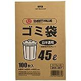 スマートバリュー ゴミ袋 LDD 白半透明 45L 100枚 N115J-45