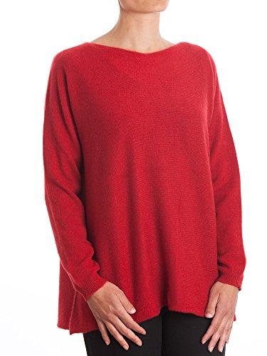 DALLE PIANE CASHMERE - Maxi Pull 100% Cachemire - Femme, Couleur: Rouge, Taille Unique