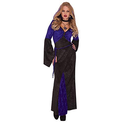 Yummy Bee Disfraz Vampiro Reina Malvada Lujo Halloween Mujer Terror Gtico Talla Grande 36-46 (42/44)