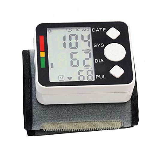 Polsbloeddrukmeter Digitaal LCD-scherm Tonometer Pulsometer Bloeddrukmeters Heart Beat Rate Detection Family Diagnostic Tool