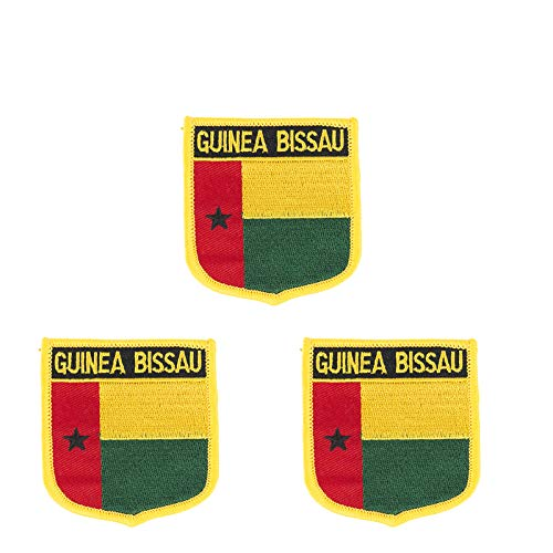 Aufnäher, bestickt, Guinea-Bissau-Flagge, zum Aufbügeln, 3 Stück