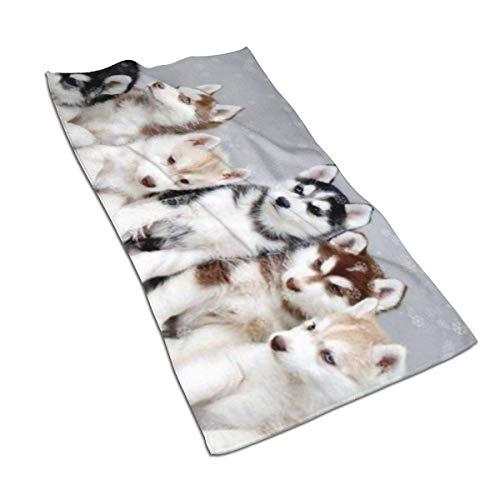 637 Bath Sheet Lovely Huskies Brother Athletic Toalla De Playa 80X130Cm Adulto Toallas De Baño Hotel Unisex Duradera Toalla De Baño Toalla De Piscina Única Secado Rápido Ul