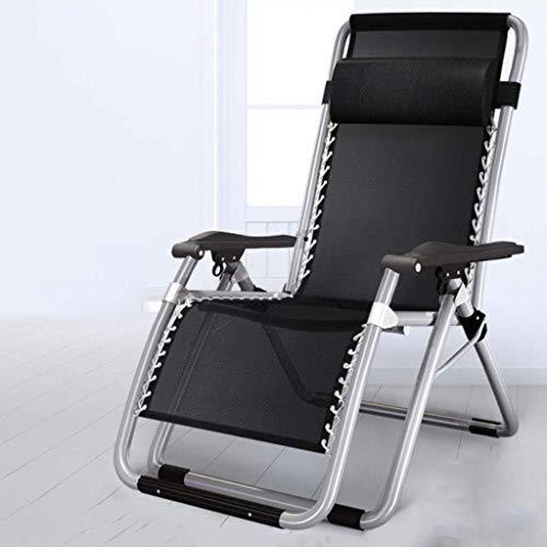 N/Z Home Equipment Schwerelosigkeitsstuhl Patio ChairReclining Klappbare Sonnenliege Schwerelose Mittagspause Nickerchen Bett Balkon Freizeit Rückenlehne Cooler Stuhl Sonnenliege (Farbe: Silber)