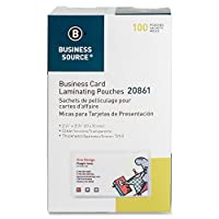 Business Source Business Card Laminating Pouches - Box of 100 by Business Source [並行輸入品]