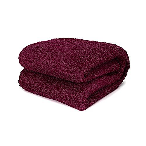 TAFTS Feder-Überwurfdecken – weich, ultra-bequem & flauschig flauschige Plüsch-Fleece-Decken Überwürfe für Couch, Bett und Wohnzimmer Herbst, Winter oder Frühling Decken Überwurfgröße Burg&errot