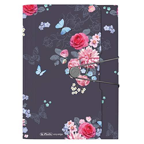 Fächermappe Ladylike Flowers, 12 Fächer mit Gummizug und Visitenkartenfach, 1 Stück
